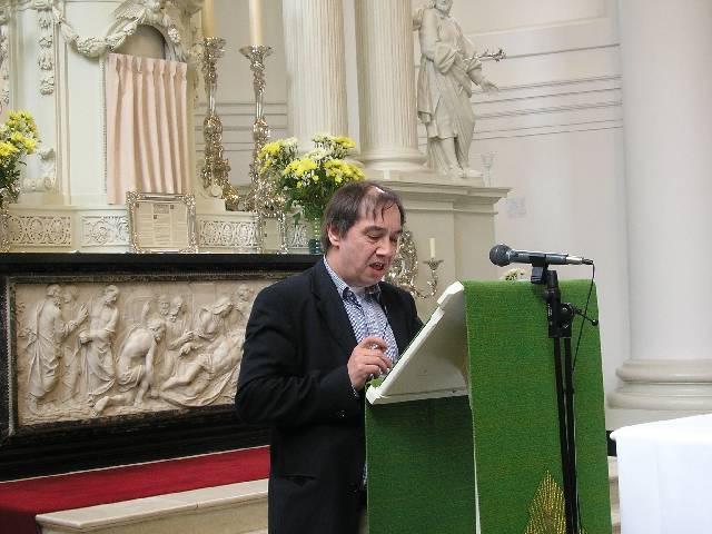 Lezing bij gelegenheid van de presentatie van het Mitterreither-orgel in de kerk van de H. Lodewijk te Leiden. (foto: H. van Woerden)